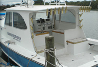Image of the Florida Shark Diving boat, 36 foot Northern Bay Downeast